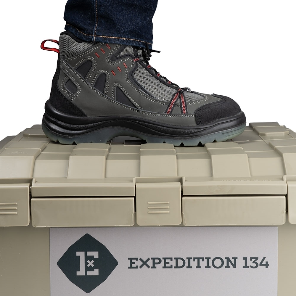 Expedition134 Heavy Duty Plastic Storage Box 55L - Tough lid can be used as a step with a weight rating of 120 Kg