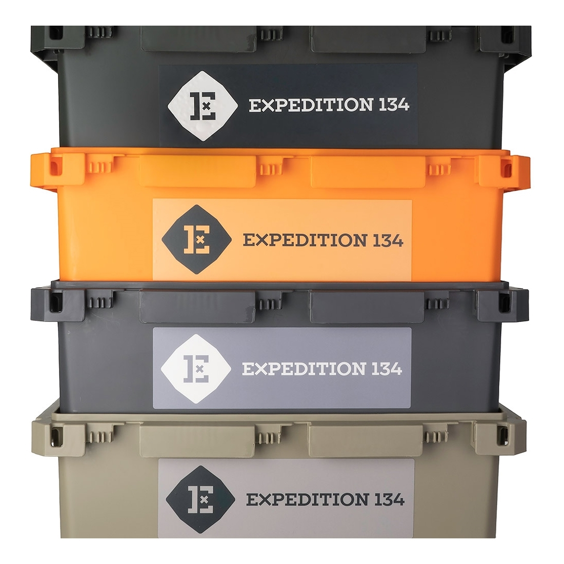 Expedition134 Heavy Duty Plastic Storage Box 55L - Nesting design for compact storage
