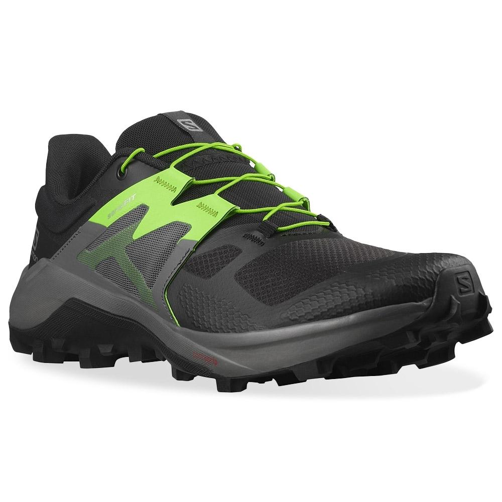 Salomon Wildcross 2 Men's Shoe Black Quiet Shade Green Gecko