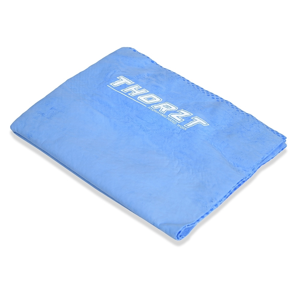 Thorzt Chill Towel - Soak in water, wring, wave it and the fibres activate