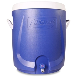 Thorzt Drinks Cooler 55L Blue - Screw top lid to give wide access for ease of cleaning and filling with ice