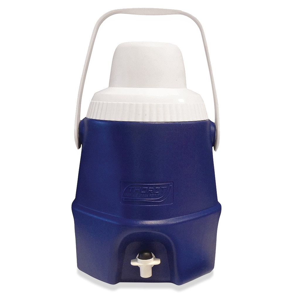Thorzt Drinks Cooler 5L with Tap Blue - Recessed push button tap to protect and reduce damage