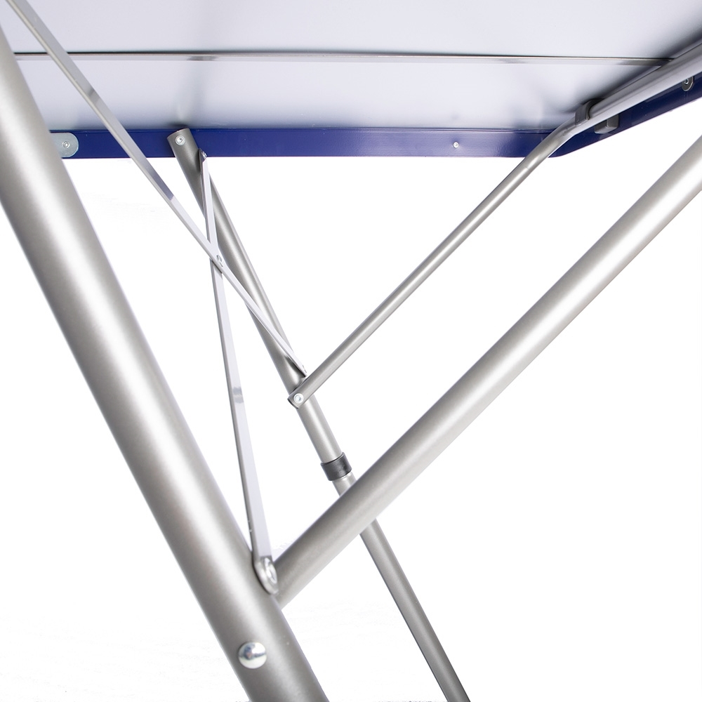 Outdoor Connection Tri-Fold High Table - Steel tube legs 25 mm diameter