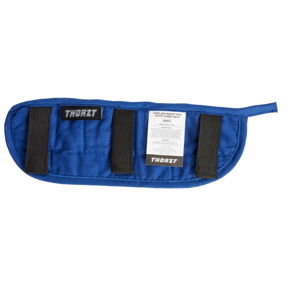 Thorzt Cooling Brow Pad to Fit Hard Hats - Rear elastic panel ensures a comfortable fit
