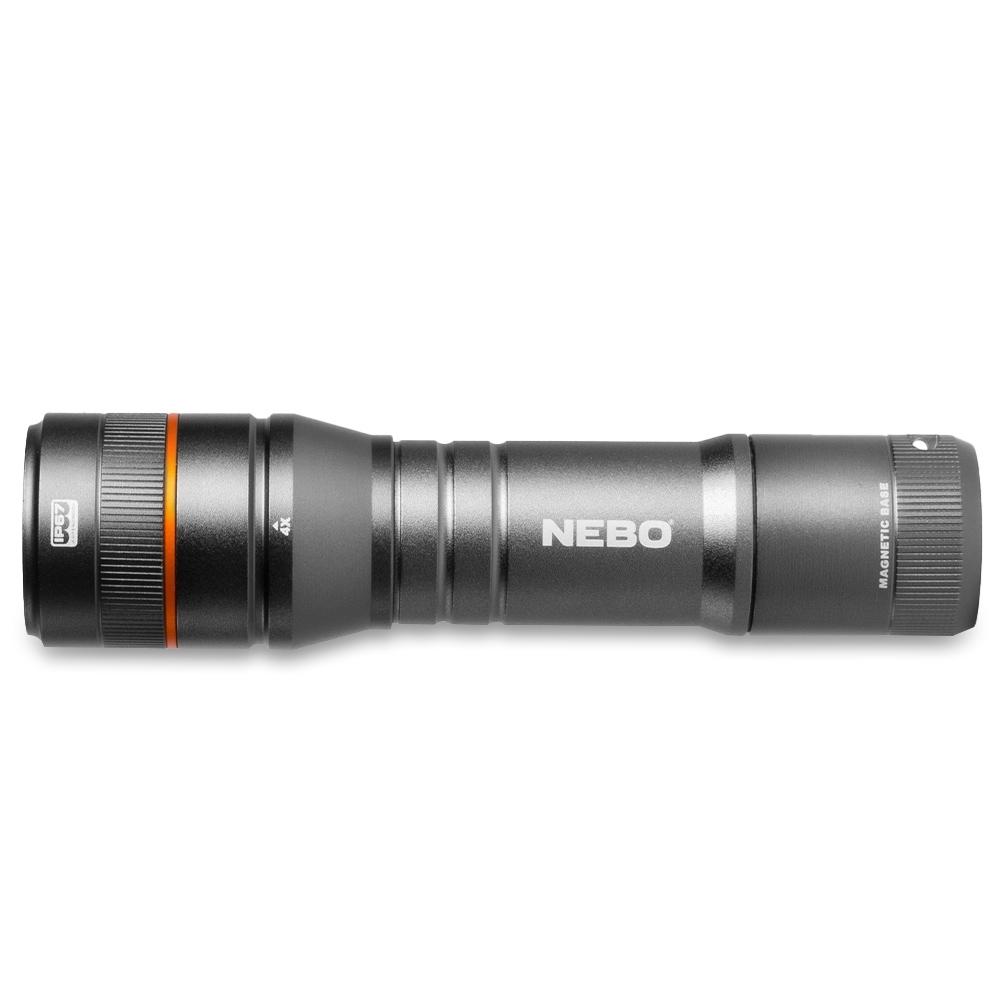 NEBO Newton 500 Battery Operated Flashlight - Powerful handheld flashlight with 4 light modes
