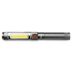 NEBO Franklin Dual 500 Rechargeable Work Light and Spot Light - A rechargeable handheld flashlight and work light