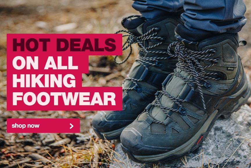 Crazy low price on a huge range of hiking footwear!